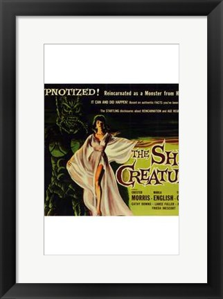 Framed She-Creature Marla English Print