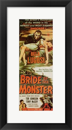 Framed Bride of the Monster Print