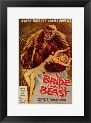 Framed Bride and the Beast Print