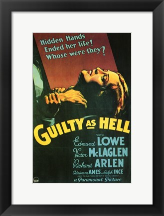 Framed Guilty as Hell Print