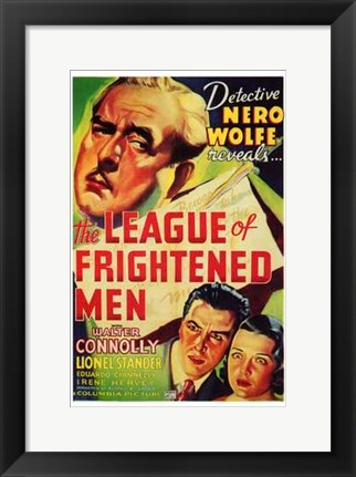 Framed League of Frightened Men Print