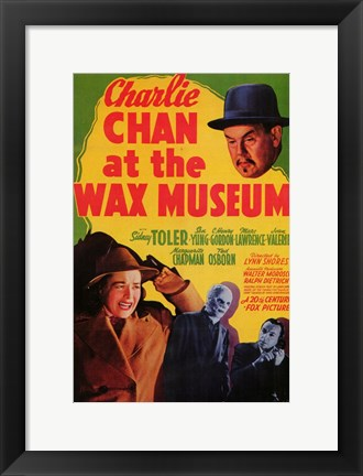 Framed Charlie Chan At the Wax Museum Print