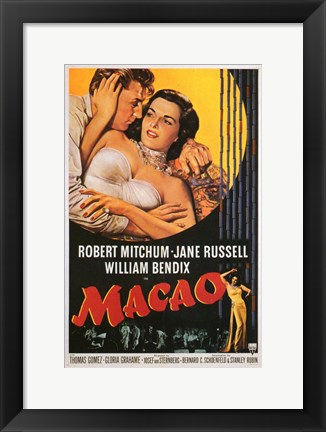 Framed Macao Jane Russell Print