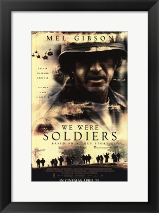 Framed We Were Soldiers Movie Poster Print