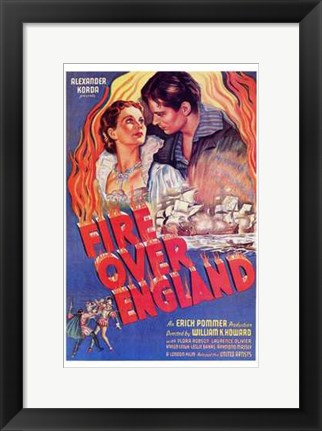 Framed Fire Over England Print