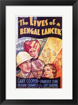 Framed Lives of a Bengal Lancer Print