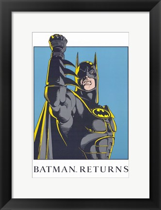 Framed Batman Returns Comic Close Up Print