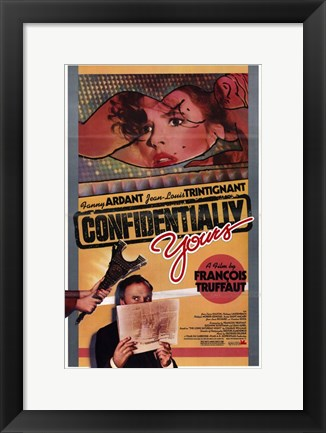 Framed Confidentially Yours (Vivement Dimanche! Print