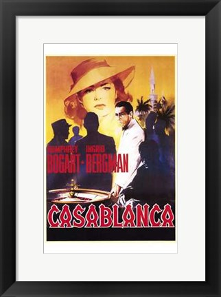 Framed Casablanca Roulette Table Print