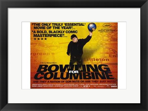 Framed Bowling for Columbine Michael Moore Print