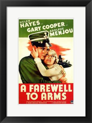 Framed Farewell to Arms Print