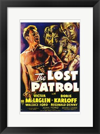 Framed Lost Patrol Print