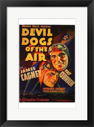 Framed Devil Dogs of the Air Print