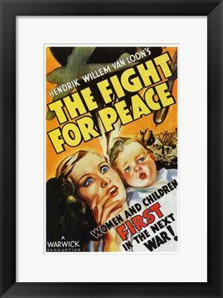 Framed Fight for Peace Print