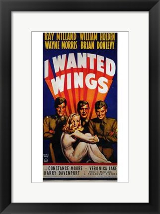 Framed I Wanted Wings Constance Moore Print