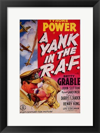 Framed Yank in the Raf - movie cover Print