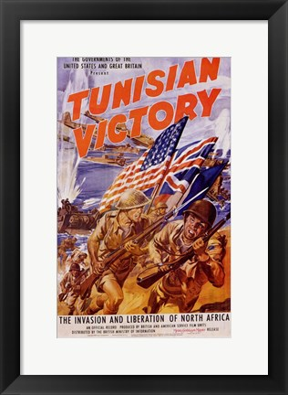 Framed Tunisian Victory Print