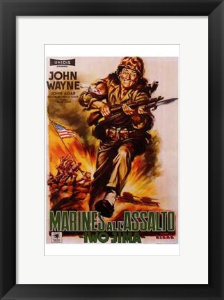 Framed Sands of Iwo Jima Print