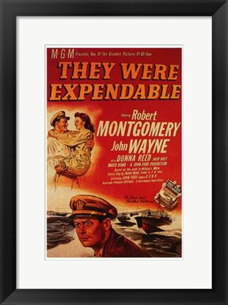 Framed They Were Expendable Print