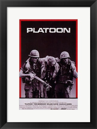 Framed Platoon Carrying Soldier Print