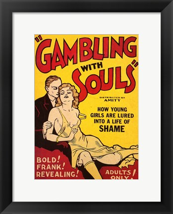 Framed Gambling with Souls Print