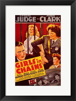 Framed Girls in Chains Print