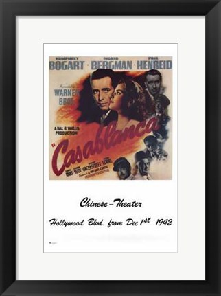 Framed Casablanca Chinese Theater Print