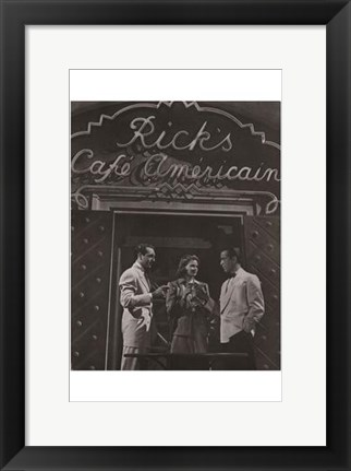 Framed Casablanca Black and White Print