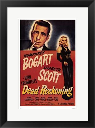 Framed Dead Reckoning Black and Red Print