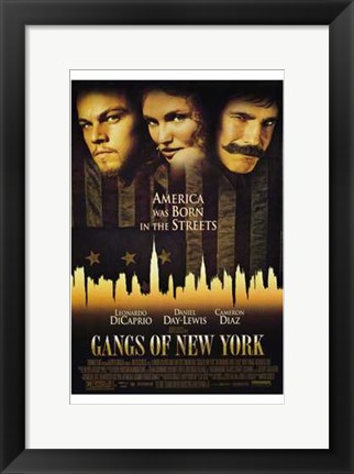 Framed Gangs of New York Print