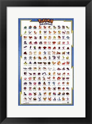 Framed Pokemon: the First Movie Print