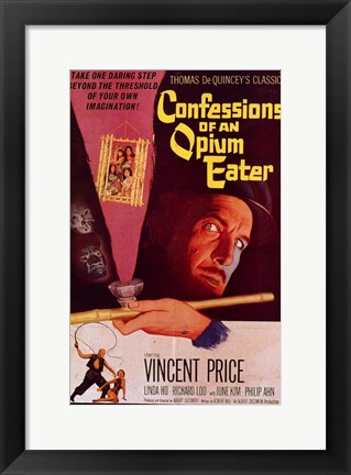 Framed Confessions of an Opium Eater Print