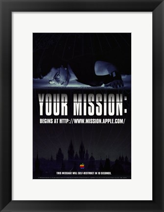 Framed Mission: Impossible - Your mission Print