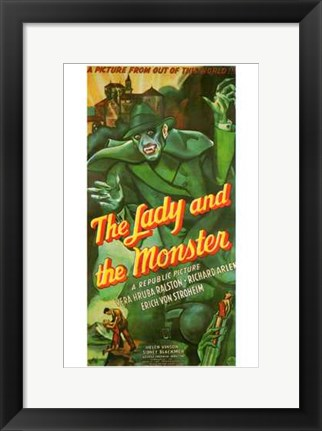 Framed Lady and the Monster Print