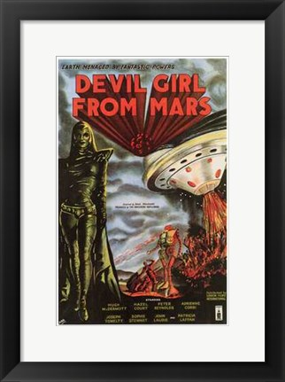 Framed Devil Girl from Mars Print