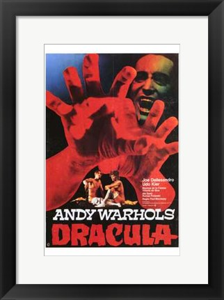 Framed Andy Warhol's Young Dracula Movie Print