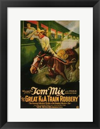 Framed Great K a Train Robbery Print