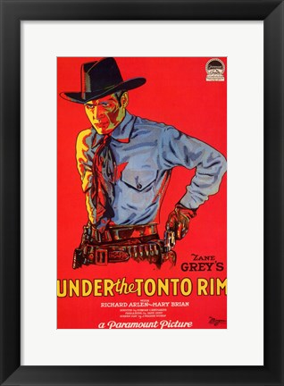 Framed Under the Tonto Rim Print