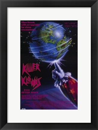 Framed Killer Klowns from Outer Space Print