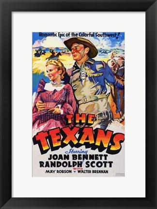 Framed Texans With Joan Bennett Print
