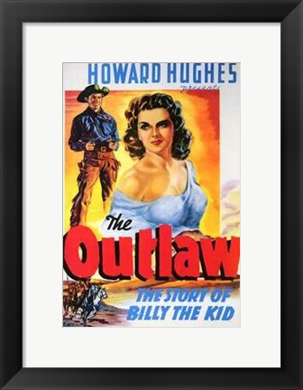 Framed Outlaw The Story of Billy the Kid Print