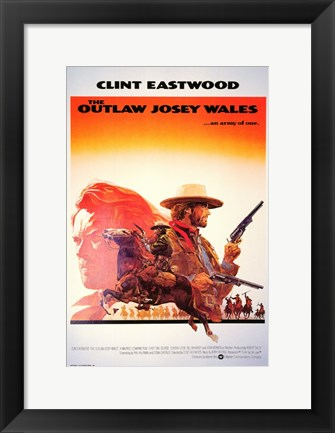 Framed Outlaw Josey Wales Clint Eastwood Print