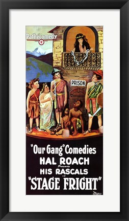 Framed Stage Fright Hal Roach Print