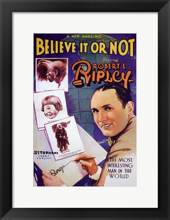 Framed Ripley's Believe it or Not Print