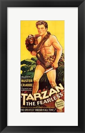 Framed Tarzan the Fearless, c.1933 - Buster Crabbe Print