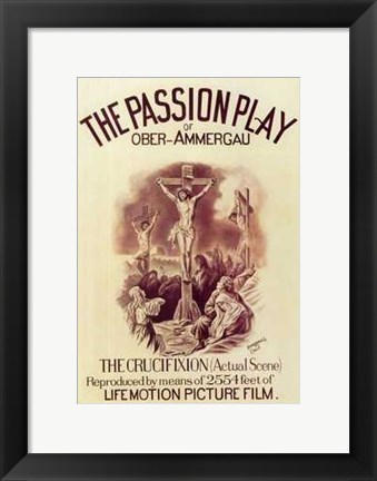 Framed Passion Play of Ober-Ammergau Print