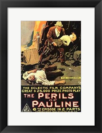 Framed Perils of Pauline Electric Company Print