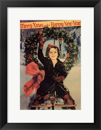 Framed Merry X-Mas and a Happy New Year Print