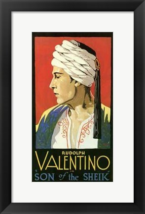 Framed Son of the Sheik With Rudolph Valentino Print