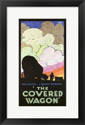 Framed Covered Wagon Wilson and Kerrigan Print